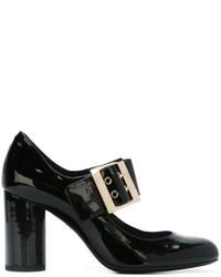 schwarze Leder Pumps von Lanvin