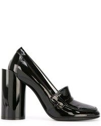schwarze Leder Pumps von Maison Margiela