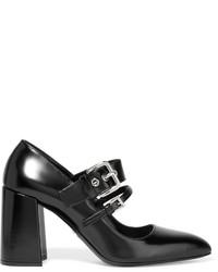 schwarze Leder Pumps von Prada