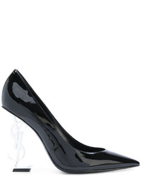 schwarze Leder Pumps von Saint Laurent