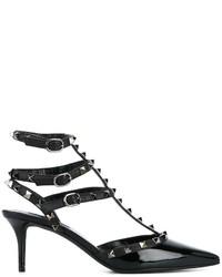 schwarze Leder Pumps von Valentino Garavani