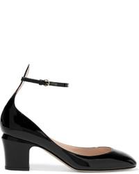 schwarze Leder Pumps von Valentino