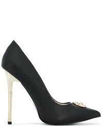 schwarze Leder Pumps von Versace