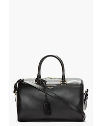 schwarze Leder Reisetasche