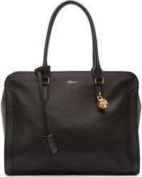 schwarze Leder Reisetasche von Alexander McQueen