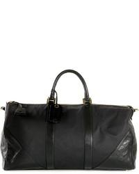 schwarze Leder Reisetasche von Chanel