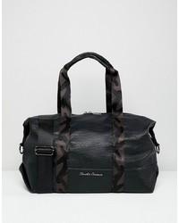 schwarze Leder Reisetasche von Claudia Canova