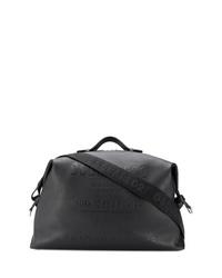 schwarze Leder Reisetasche von DSQUARED2