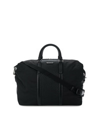 schwarze Leder Reisetasche von Ermenegildo Zegna