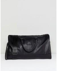 schwarze Leder Reisetasche von Good For Nothing
