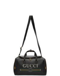 schwarze Leder Reisetasche von Gucci
