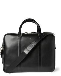 schwarze Leder Reisetasche von Paul Smith