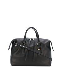 schwarze Leder Reisetasche von Rick Owens