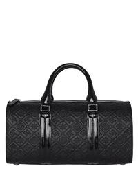 schwarze Leder Reisetasche von SILVIO TOSSI