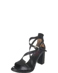 schwarze Leder Sandaletten von A.S.98