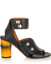 schwarze Leder Sandaletten von Acne Studios