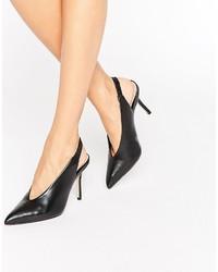 Schwarze Leder Sandaletten von Aldo