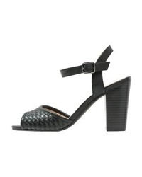 schwarze Leder Sandaletten von Anna Field