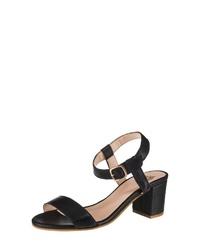 schwarze Leder Sandaletten von Apple of Eden