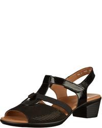 schwarze Leder Sandaletten von ara