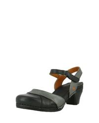 schwarze Leder Sandaletten von Art