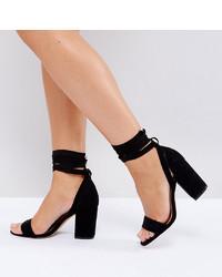schwarze Leder Sandaletten von ASOS DESIGN