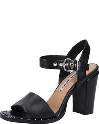 schwarze Leder Sandaletten von Bronx