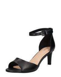 schwarze Leder Sandaletten von Clarks