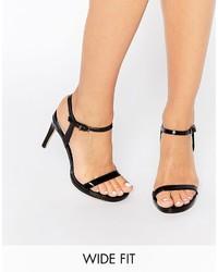 Schwarze Leder Sandaletten von Faith