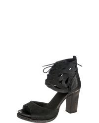 schwarze Leder Sandaletten von Felmini