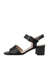 schwarze Leder Sandaletten von Gabor