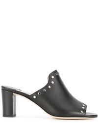 schwarze Leder Sandaletten von Jimmy Choo