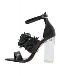 schwarze Leder Sandaletten von LOST INK