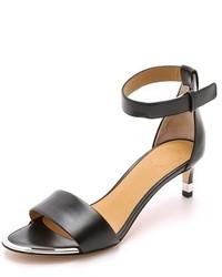 schwarze Leder Sandaletten von Marc by Marc Jacobs
