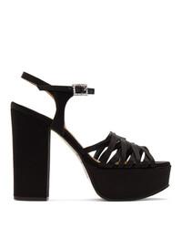 schwarze Leder Sandaletten von Marc Jacobs