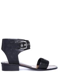Schwarze Leder Sandaletten von Markus Lupfer