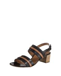 schwarze Leder Sandaletten von Paul Green