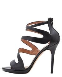schwarze Leder Sandaletten von PoiLei