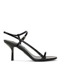 schwarze Leder Sandaletten von Prada