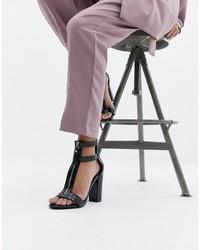 schwarze Leder Sandaletten von SIMMI Shoes