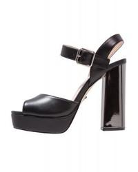 schwarze Leder Sandaletten von Tata Italia