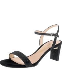 schwarze Leder Sandaletten von Unisa