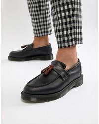 schwarze Leder Slipper mit Quasten von Dr. Martens