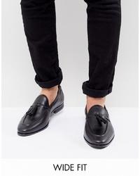schwarze Leder Slipper mit Quasten von Kg Kurt Geiger