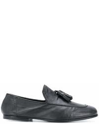 schwarze Leder Slipper mit Quasten von Rocco P.