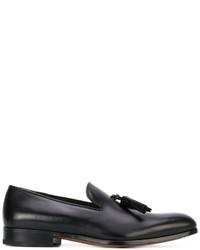 schwarze Leder Slipper mit Quasten von Salvatore Ferragamo