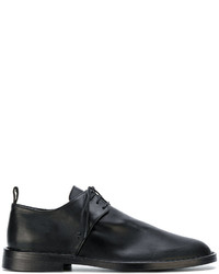 schwarze Leder Slipper von Ann Demeulemeester