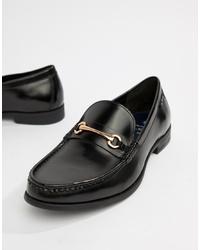 schwarze Leder Slipper von Ben Sherman