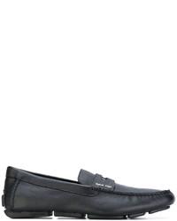 schwarze Leder Slipper von Calvin Klein