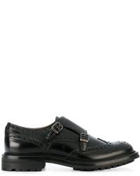 schwarze Leder Slipper von Church's